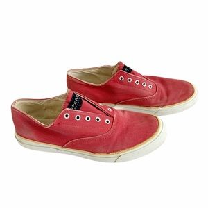 Sperry Red Top Side Slip On Sneakers Size 7.5